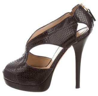 Fendi Snake Skin Crazy In Love Sandals