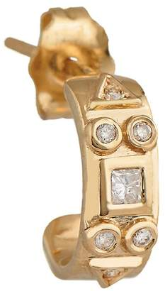 Celine Daoust Diamond Totem Single Hoop Earring - Yellow Gold