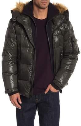 SAM. S13\u002FNYC Downhill Faux Fur Lined Hood Quilted Coat