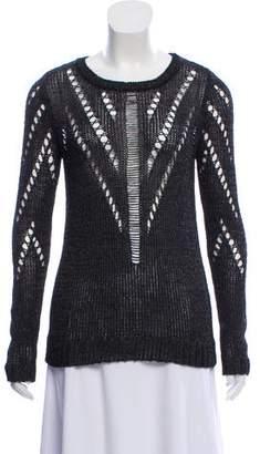 Tess Giberson Open Knit Crew Neck Sweater