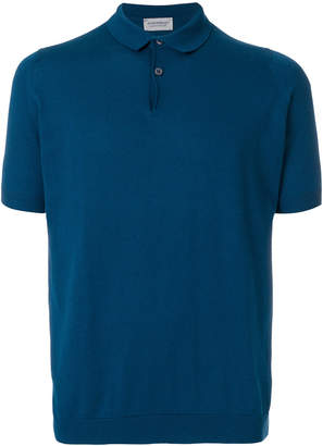 John Smedley Rhodes knitted polo shirt