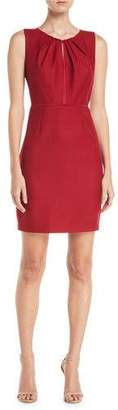 Elie Tahari Jadea Sleeveless Keyhole-Front Sheath Dress