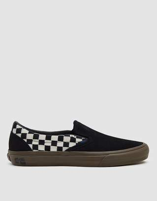 Vans Vault By TH Slip-On LX Woven Suede Sneaker in Checkerboard