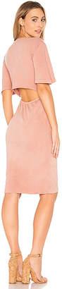 Monrow Open Back Dress