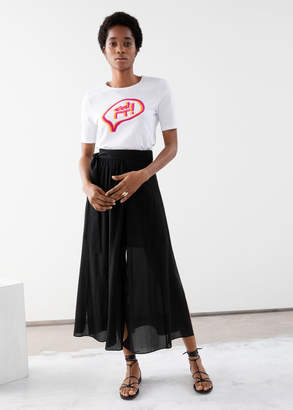 And other stories Belted Midi Side Slit Skirt
