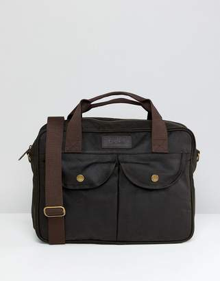 Barbour Longthorpe Laptop Bag In Green