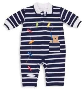 Florence Eiseman Baby Boy's Stripe Knit Pique Jumpsuit