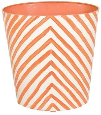 Worlds Away Oval Wastebasket Zebra
