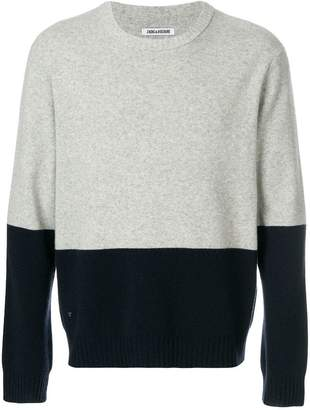 Zadig & Voltaire colour block jumper