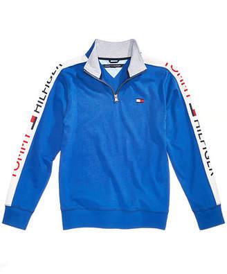Tommy Hilfiger Little Boys Colorblocked Quarter-Zip Cotton Pullover