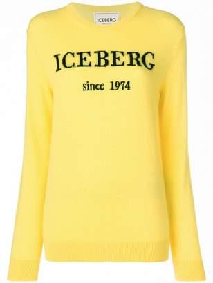 Iceberg contrast logo jumper