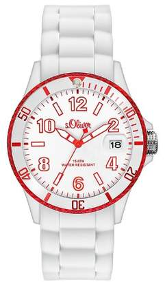 S'Oliver Men's Quartz Watch SO-2730-PQ with Plastic Strap
