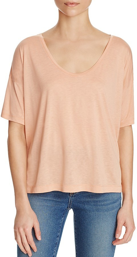Alexander Wang T by Alexander Wang Scoop Neck Tee