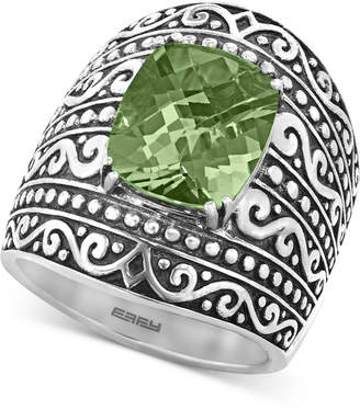 Effy Prasiolite Scrollwork Statement Ring (5-3/8 ct. t.w.) in Sterling Silver