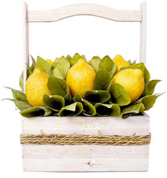 Creative Displays 13In Rolled Salal Leaf And Lemon Basket