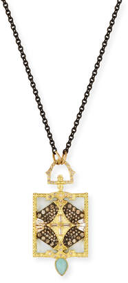 Armenta Old World Rectangular Pendant Necklace