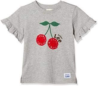 Buddy Lee (バディ リー) - [バディリー] Buddy Lee さくらんぼ柄 半袖 Tシャツ 女の子 341182124 ピンク 日本 100 (日本サイズ100 相当)
