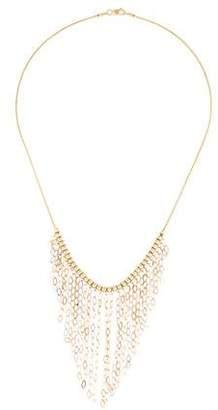 14K Tri-Color Fringe Chain Necklace