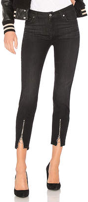 7 For All Mankind Roxanne Ankle With Front Zips.