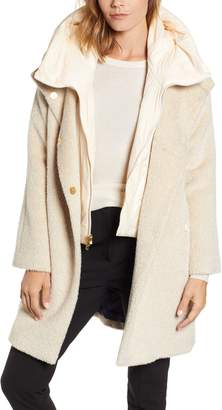 Trina Turk Coat with Hooded Bib