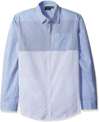Burnside Men's Crushin It Long-Sleeve Woven Shirt Front Button Closure