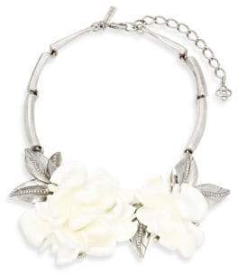Oscar de la Renta Floral Statement Necklace