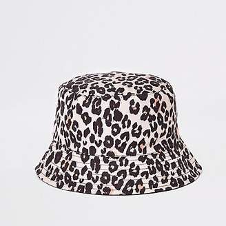 edaf08a3ccd5 River Island Mini girls leopard reversible bucket hat