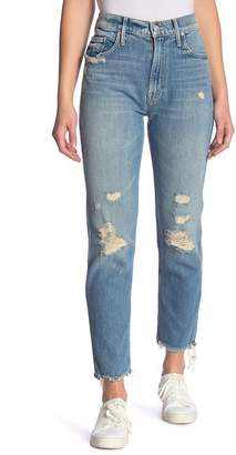 Mother The Cardinal Sinner Distressed Frayed Ankle Jeans