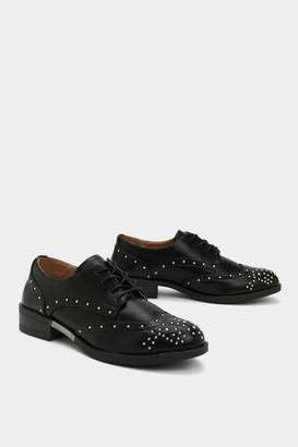 Nasty Gal It's Pin a While Studded Brogue
