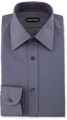 Tom Ford Slim-Fit Textured Dress Shirt, Navy