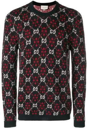 Gucci monogram knit jumper