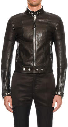 Alexander McQueen Men's Leather Biker Jacket