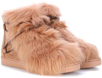 131e6985bdcbb Gianvito Rossi Inuit fur-trimmed suede ankle boots