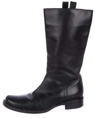 Prada Leather Mid-Calf Boots