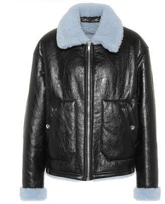 McQ Reversible leather shearling jacket