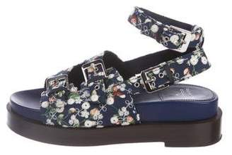 Laurence Dacade Embroidered Woven Sandals