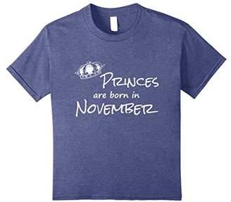 Princes are Born in November- Birthday T-Shirt