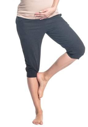 Zeta Ville Fashion Zeta Ville - Womens maternity capri pants pockets stretch waistband - 699c (
