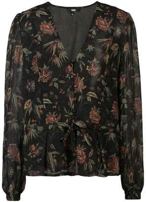 Paige floral v-neck blouse
