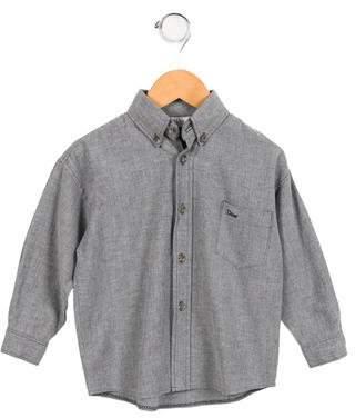 Christian Dior Boys' Logo Button-Up Shirt