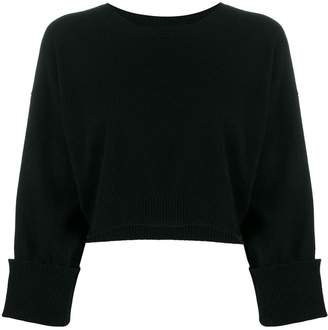 P.A.R.O.S.H. crew neck cropped jumper