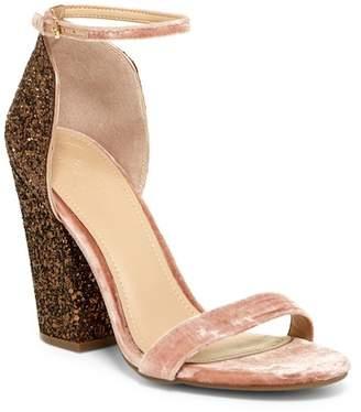 GUESS BamBam Glittery Heel Sandal