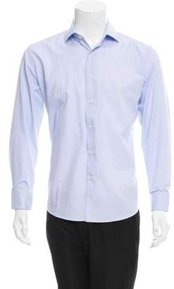 Balmain Plaid French Cuff Shirt