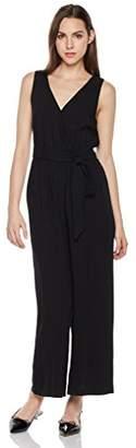 Suite Alice Sleeveless Deep V Neck Tie Waist Big Leg Jumpsuit