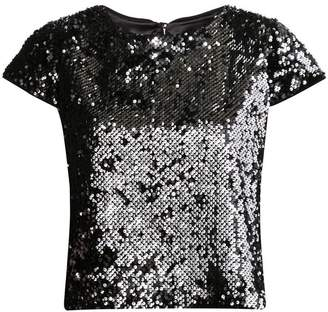 Milly sequin short sleeve top