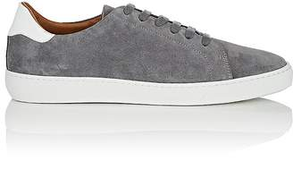 Barneys New York Men's Leather-Trimmed Suede Sneakers