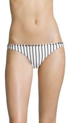 Full Coverage Striped Bikini Bottom
