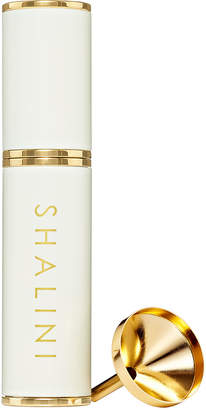 Shalini Jardin Nocturne White Lacquer and Gold Plated Travel Spray 0.4 oz./ 12.5 mL