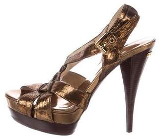 Michael Kors Embossed Platform Sandals