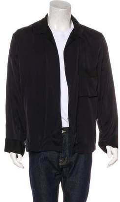 Dries Van Noten Embroidered Satin Kimono Jacket